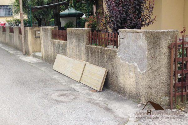 risanamento muro di cinta perimetrale